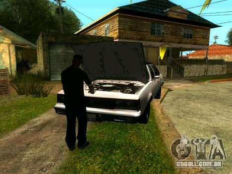 Amigos do CJ no Grove para GTA San Andreas por diante tela