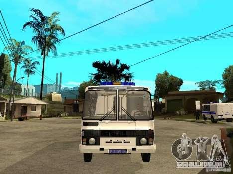 Polícia de PAZ 3205 para GTA San Andreas vista direita