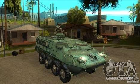 Stryker para GTA San Andreas vista traseira