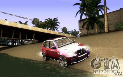 BMW X5M  2011 para GTA San Andreas vista inferior