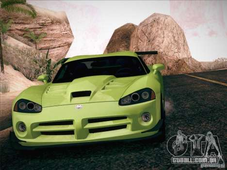 Dodge Viper SRT-10 ACR para GTA San Andreas interior
