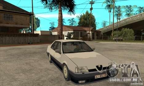 Alfa Romeo 164 para GTA San Andreas interior