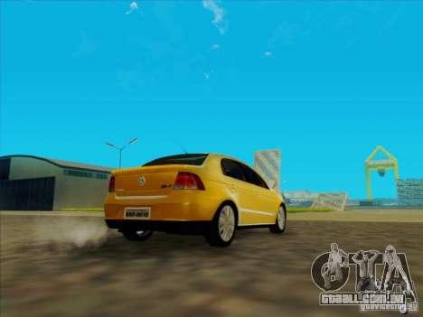Volkswagen Voyage Comfortline 1.6 2009 para GTA San Andreas traseira esquerda vista