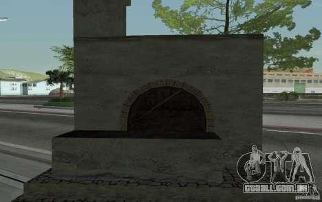 Fogão para GTA San Andreas traseira esquerda vista