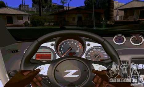 Nissan 370Z para GTA San Andreas interior