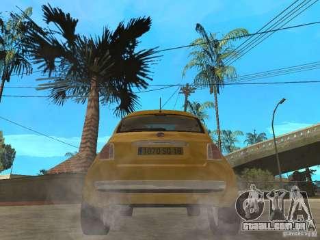 Fiat 500 C para GTA San Andreas traseira esquerda vista