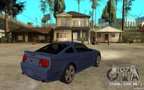 Ford Mustang 2005 para GTA San Andreas vista direita