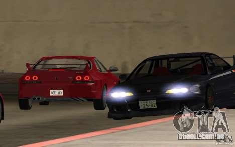 Honda Integra Type R para GTA San Andreas vista interior