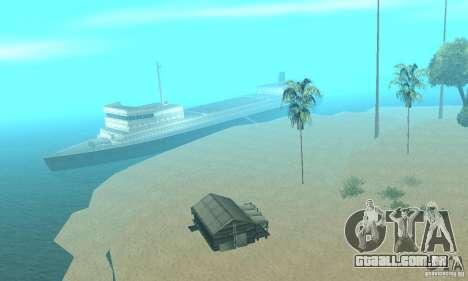 Lost Island para GTA San Andreas segunda tela