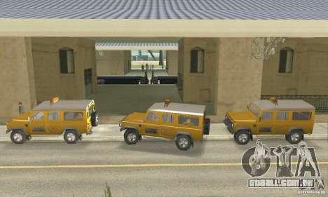 Land Rover Defender 110SW Taxi para GTA San Andreas traseira esquerda vista