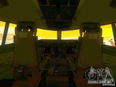 Boeing E-767 para GTA San Andreas vista inferior