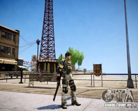 Chris from Resident Evil 5 para GTA 4 por diante tela
