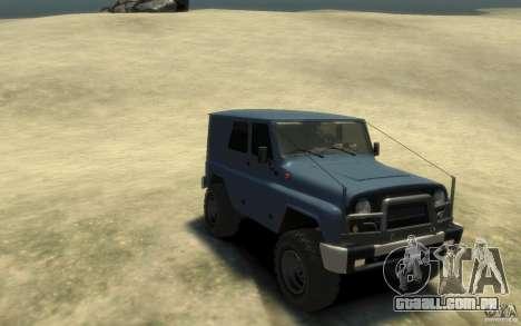 UAZ Hunter final para GTA 4 vista de volta