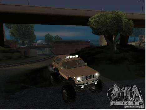Ford Bronco IV Monster para GTA San Andreas vista direita