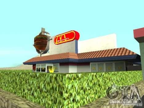 Mc Donalds para GTA San Andreas sexta tela