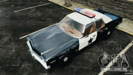 Dodge Monaco 1974 Police v1.0 [ELS] para GTA 4 interior