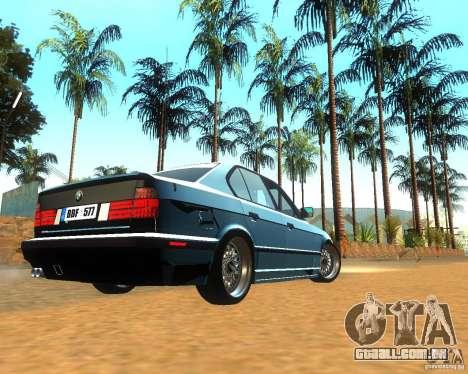 BMW 525i E34 para GTA San Andreas vista direita