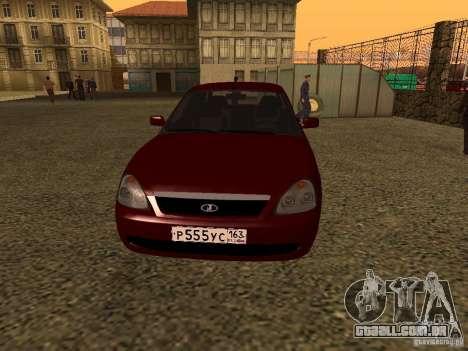 LADA 2170 Premier para GTA San Andreas esquerda vista
