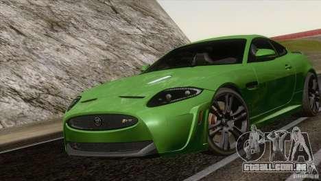 Jaguar XKR-S 2011 V1.0 para GTA San Andreas traseira esquerda vista