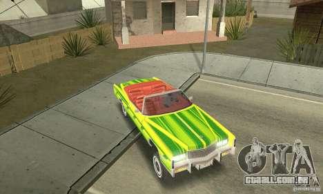 Cadillac Eldorado Convertible 1976 para GTA San Andreas vista superior