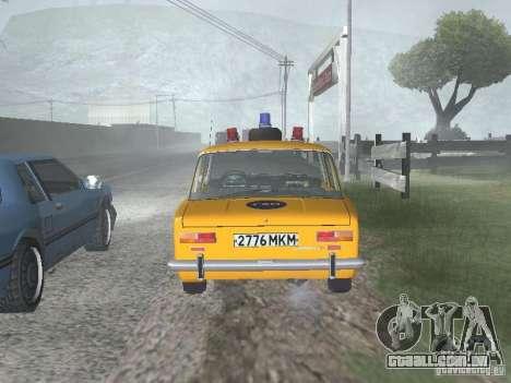 POLÍCIA DE TRÂNSITO VAZ 21016 para GTA San Andreas vista direita