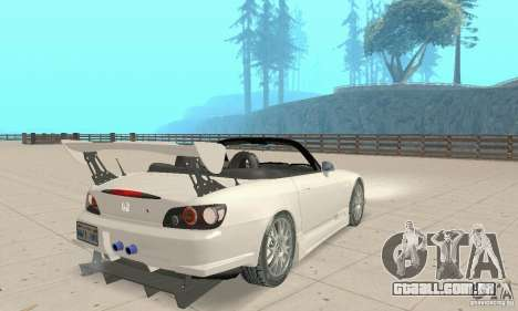 Honda S2000 Cabrio West Tuning para GTA San Andreas esquerda vista