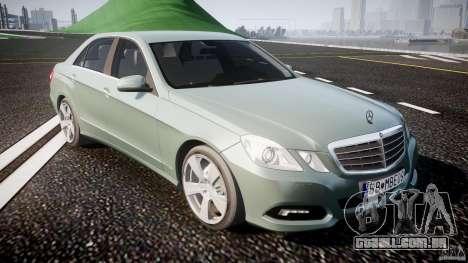 Mercedes-Benz E63 2010 AMG v.1.0 para GTA 4 vista interior