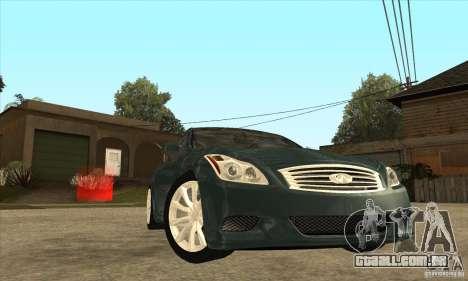 Infiniti G37 Coupe Sport para GTA San Andreas