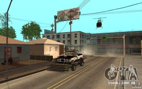 Chevrolet Hunter para GTA San Andreas vista traseira