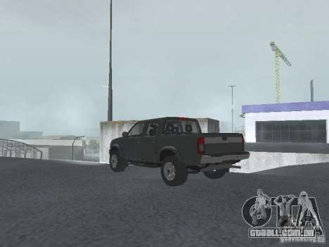 Nissan Frontier para GTA San Andreas esquerda vista