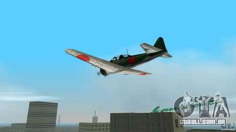 Zero Fighter Plane para GTA Vice City deixou vista