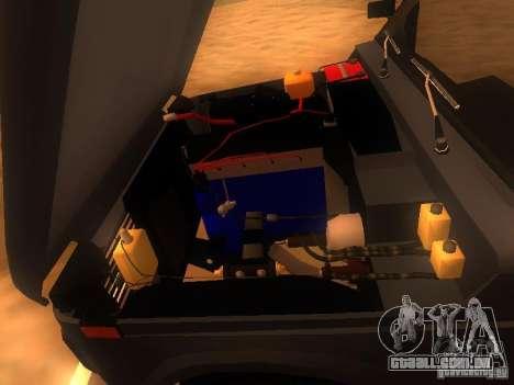 Vaz 2131 NIVA para GTA San Andreas vista interior