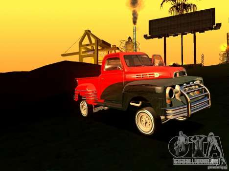 Ford Pick Up Custom 1951 LowRider para GTA San Andreas vista interior