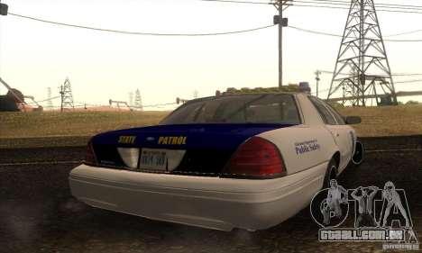 Ford Crown Alabama Police para GTA San Andreas esquerda vista