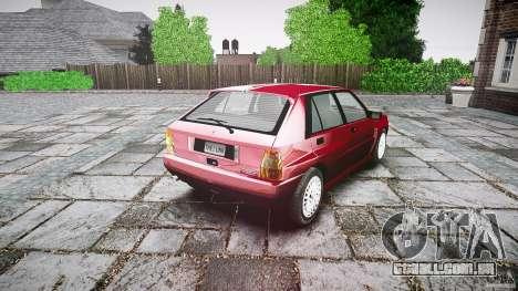Lancia Delta HF Integrale Dealers Collection para GTA 4 vista interior