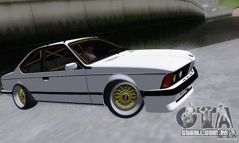 BMW M635CSi Stanced para GTA San Andreas esquerda vista