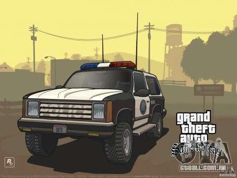 Tela de boot linda para GTA San Andreas terceira tela