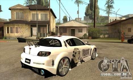 Mazda RX8 Slipknot Style para GTA San Andreas vista direita