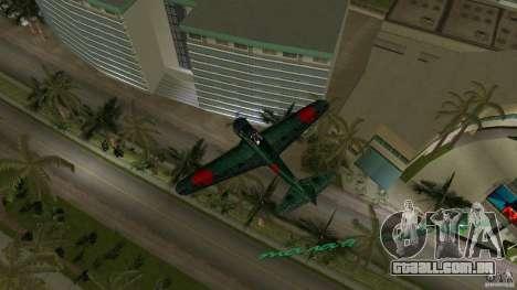 Zero Fighter Plane para GTA Vice City vista direita
