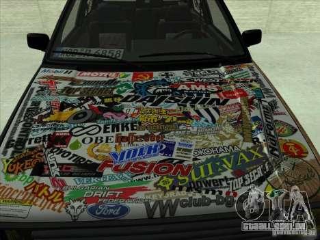 Volkswagen Golf 2 Rat Style para GTA San Andreas esquerda vista