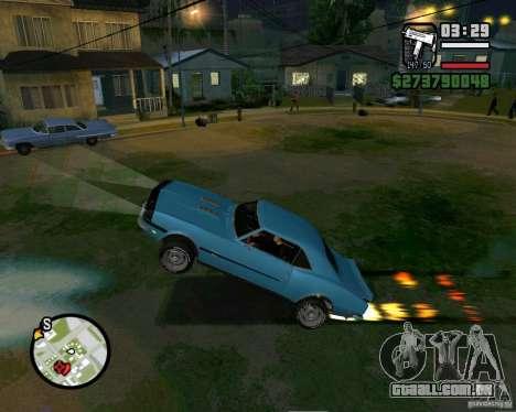 Capacidade de levantar o carro para o buck para GTA San Andreas segunda tela
