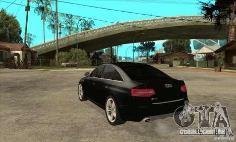Audi RS6 2010 para GTA San Andreas traseira esquerda vista