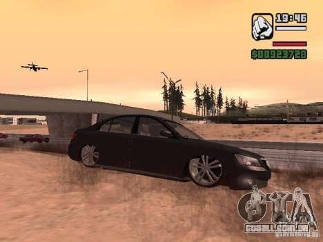 Hyundai Sonata Edit para GTA San Andreas esquerda vista