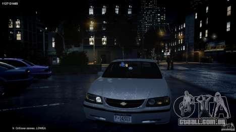 Chevrolet Impala Unmarked Police 2003 v1.0 [ELS] para GTA 4 motor