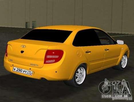 Lada Granta v2.0 para GTA Vice City vista direita