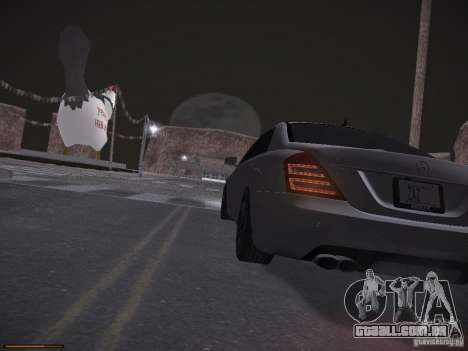 Mercedes Benz S65 AMG 2012 para GTA San Andreas vista superior