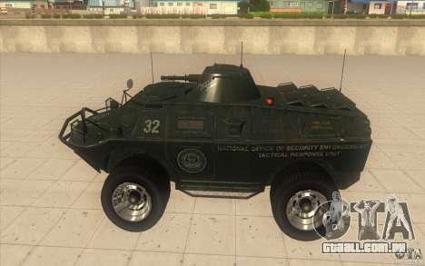 APCS do GTA TBOGT 4 Original com textura para GTA San Andreas esquerda vista