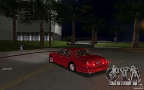 Bentley Arnage T 2005 para GTA Vice City vista interior