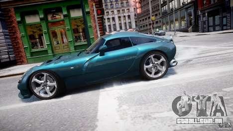 TVR Sagaris para GTA 4 esquerda vista