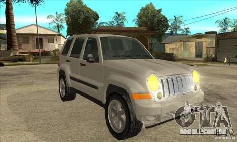Jeep Liberty 2007 Final para GTA San Andreas vista traseira